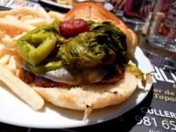 Hamburguesa con grelos