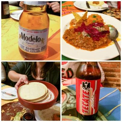 Cervezas, tacos y cochinita pibil